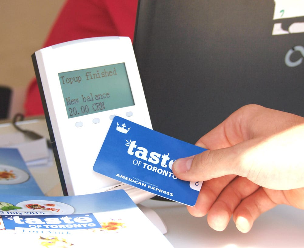 RFID Cashless Payments at the Taste of Toronto food festival