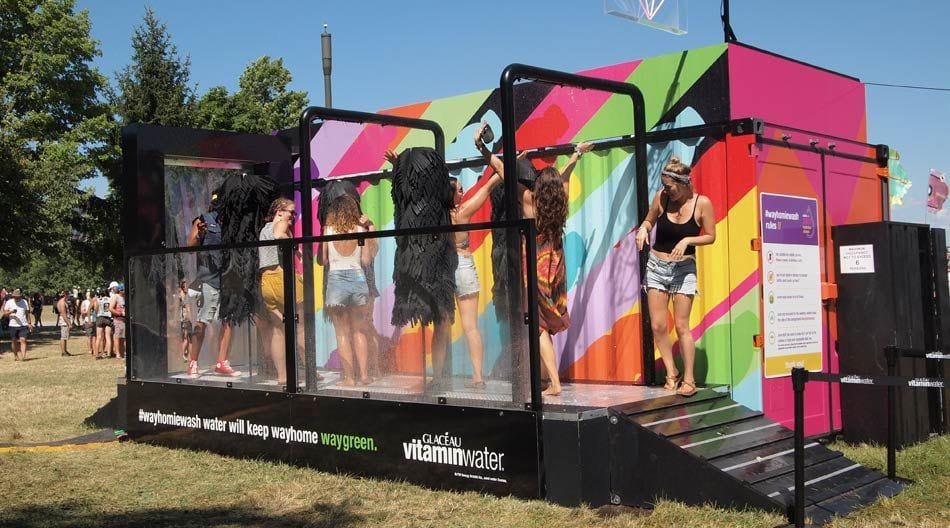 Vitaminwater human carwash at Wayhome music festival