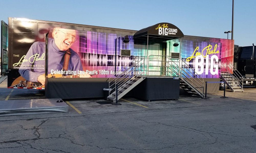 A Mobile experiential marketing campaign by Les Paul
